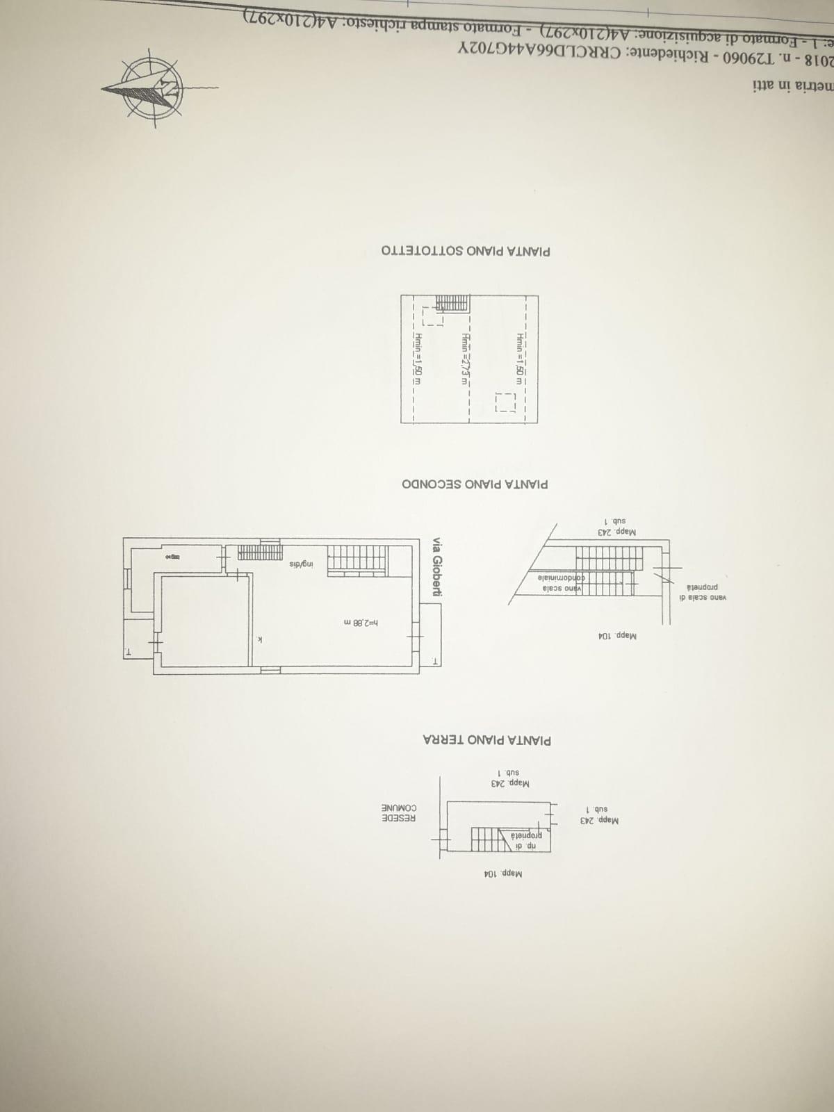 Planimetria 1/1 per rif. 873E