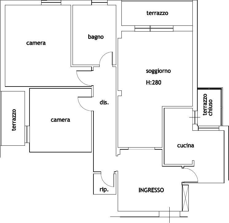 Planimetria 1/1 per rif. 958R