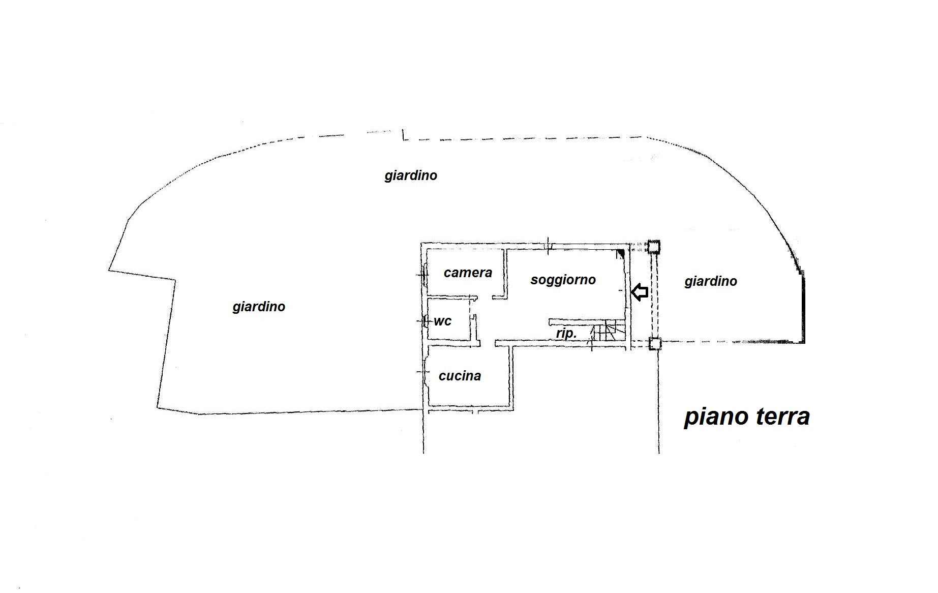 Planimetria 1/2 per rif. R/3108