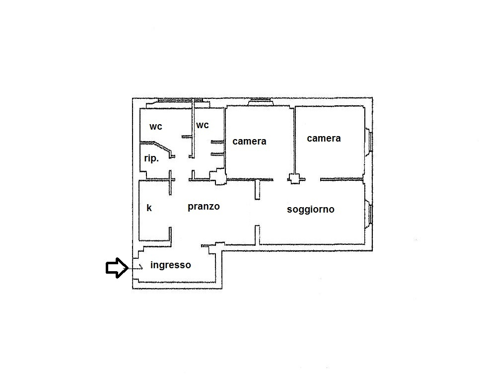 Planimetria 1/1 per rif. R/3147