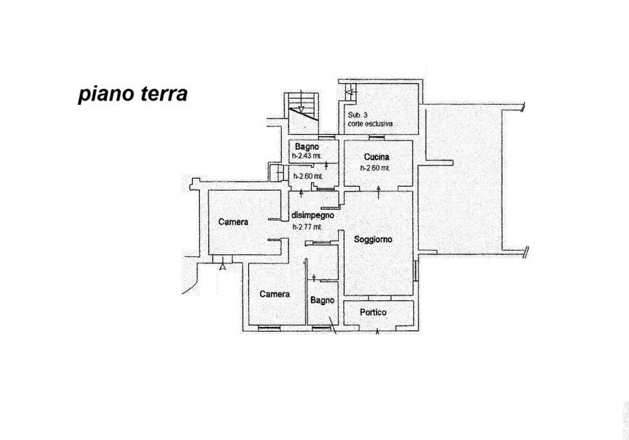 Planimetria 1/4 per rif. R/3081