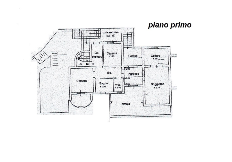Planimetria 2/4 per rif. R/3081