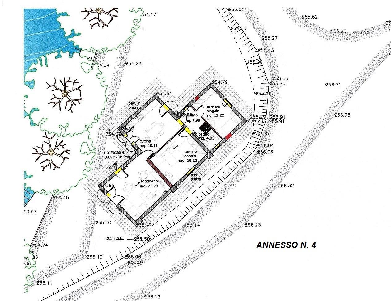 Planimetria 3/4 per rif. R/3102
