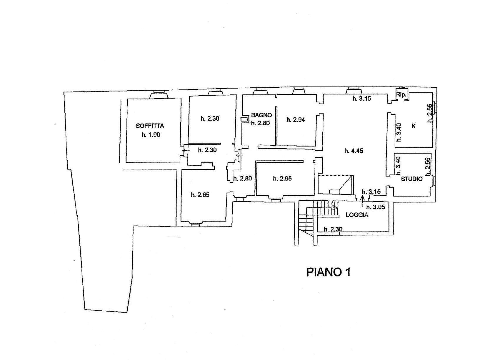Planimetria 2/3 per rif. R/3285