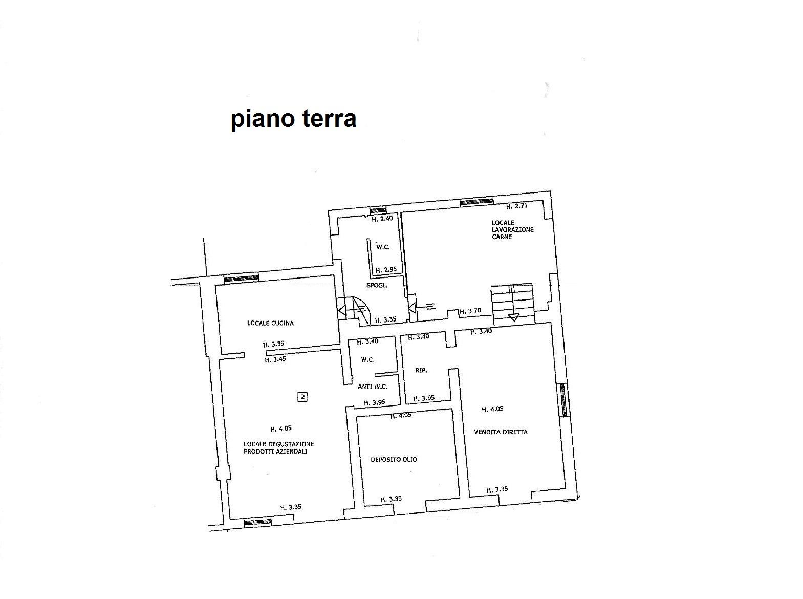 Planimetria 3/4 per rif. C/3289