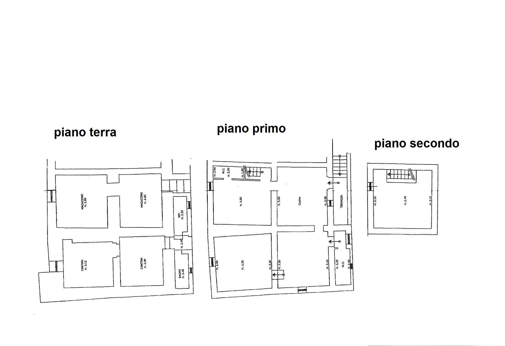 Planimetria 2/4 per rif. C/3289