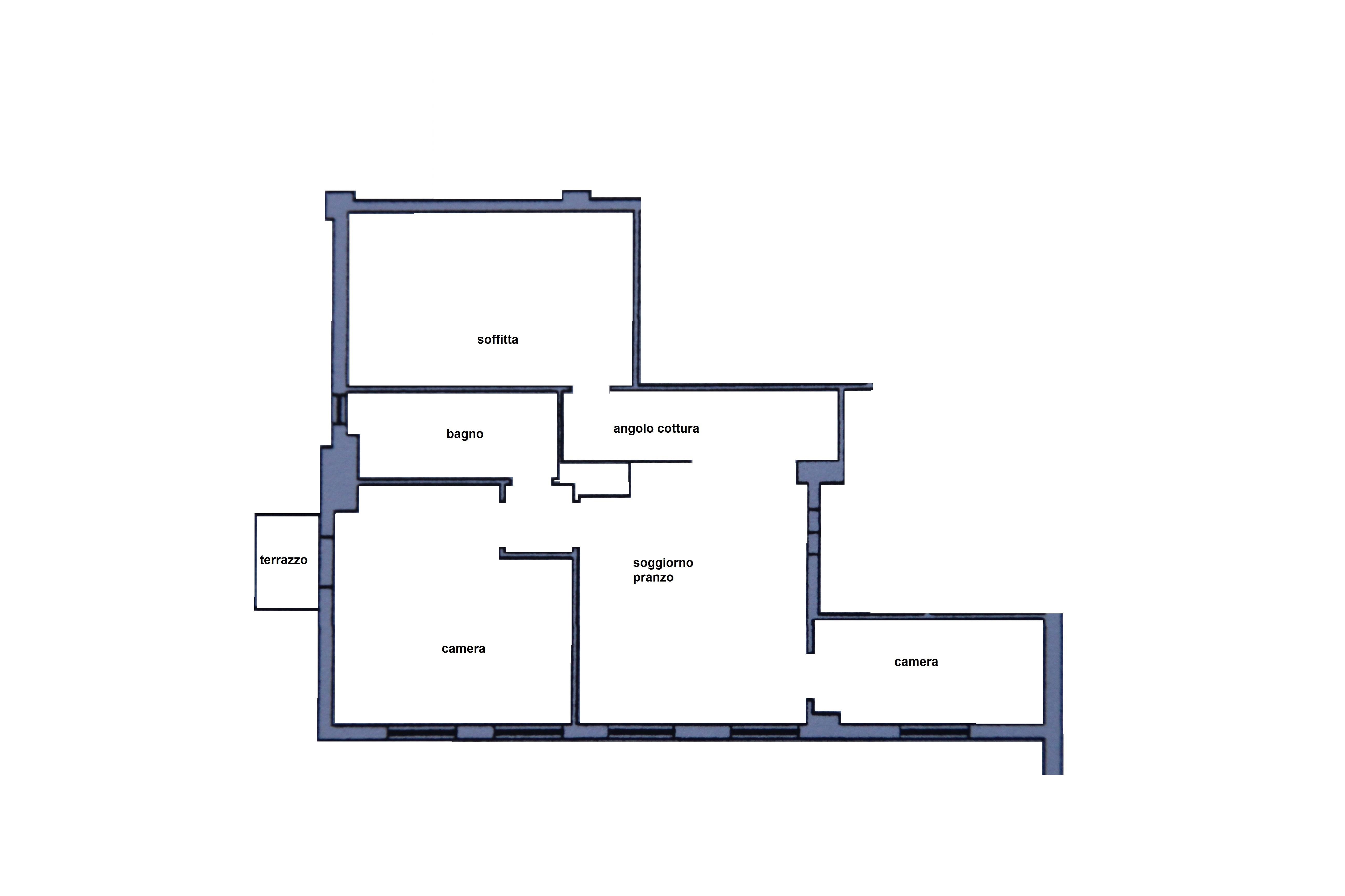 Planimetria 1/1 per rif. R/3333