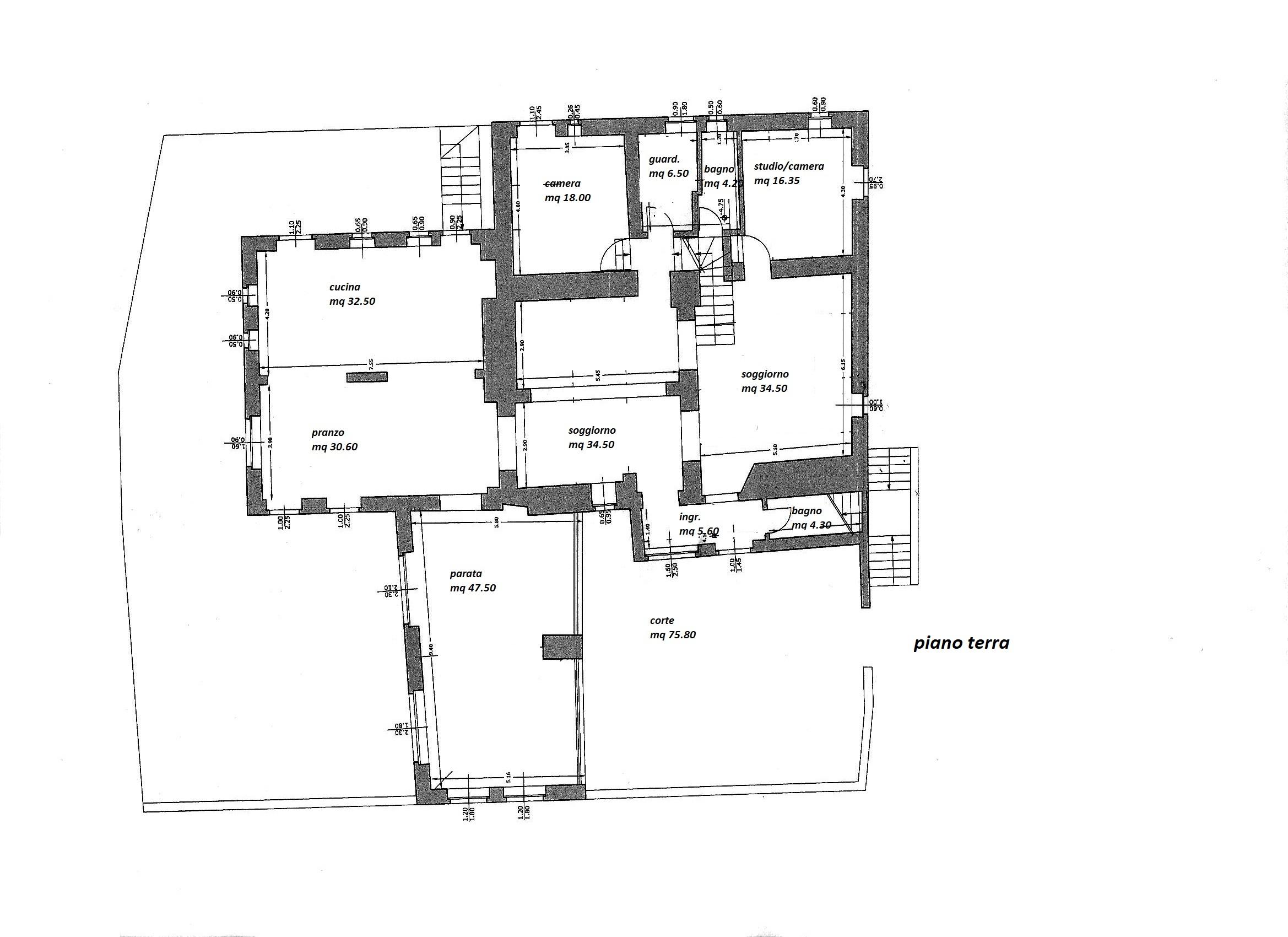 Planimetria 1/3 per rif. R/3361