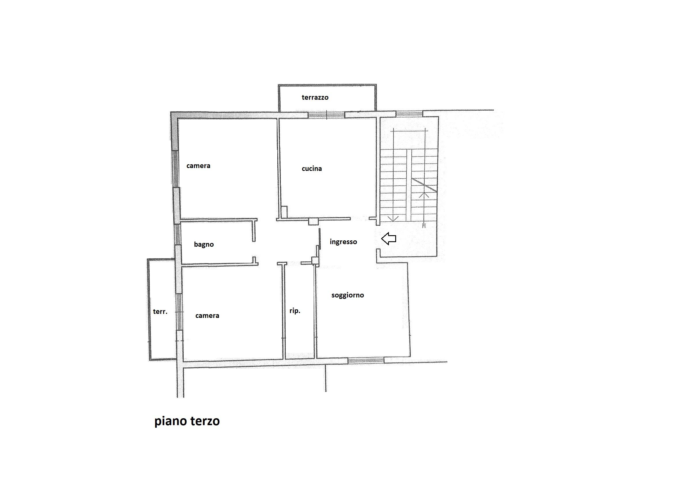 Planimetria 1/1 per rif. R/3401