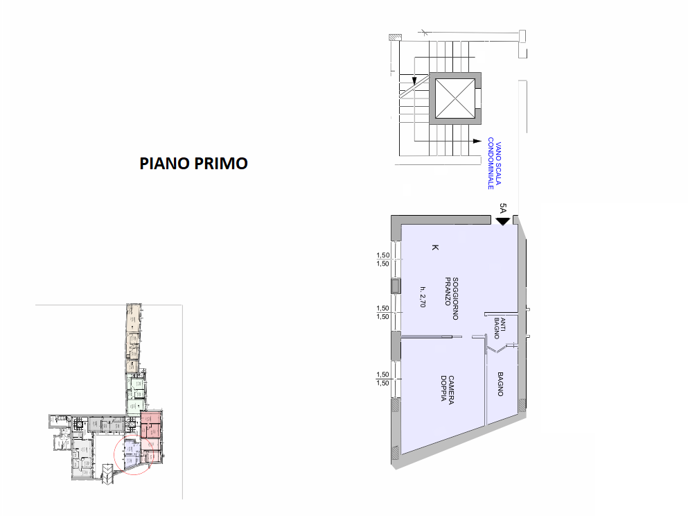 Planimetria 1/1 per rif. R/3406