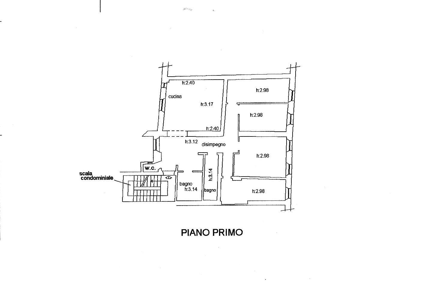 Planimetria 1/1 per rif. R/3412