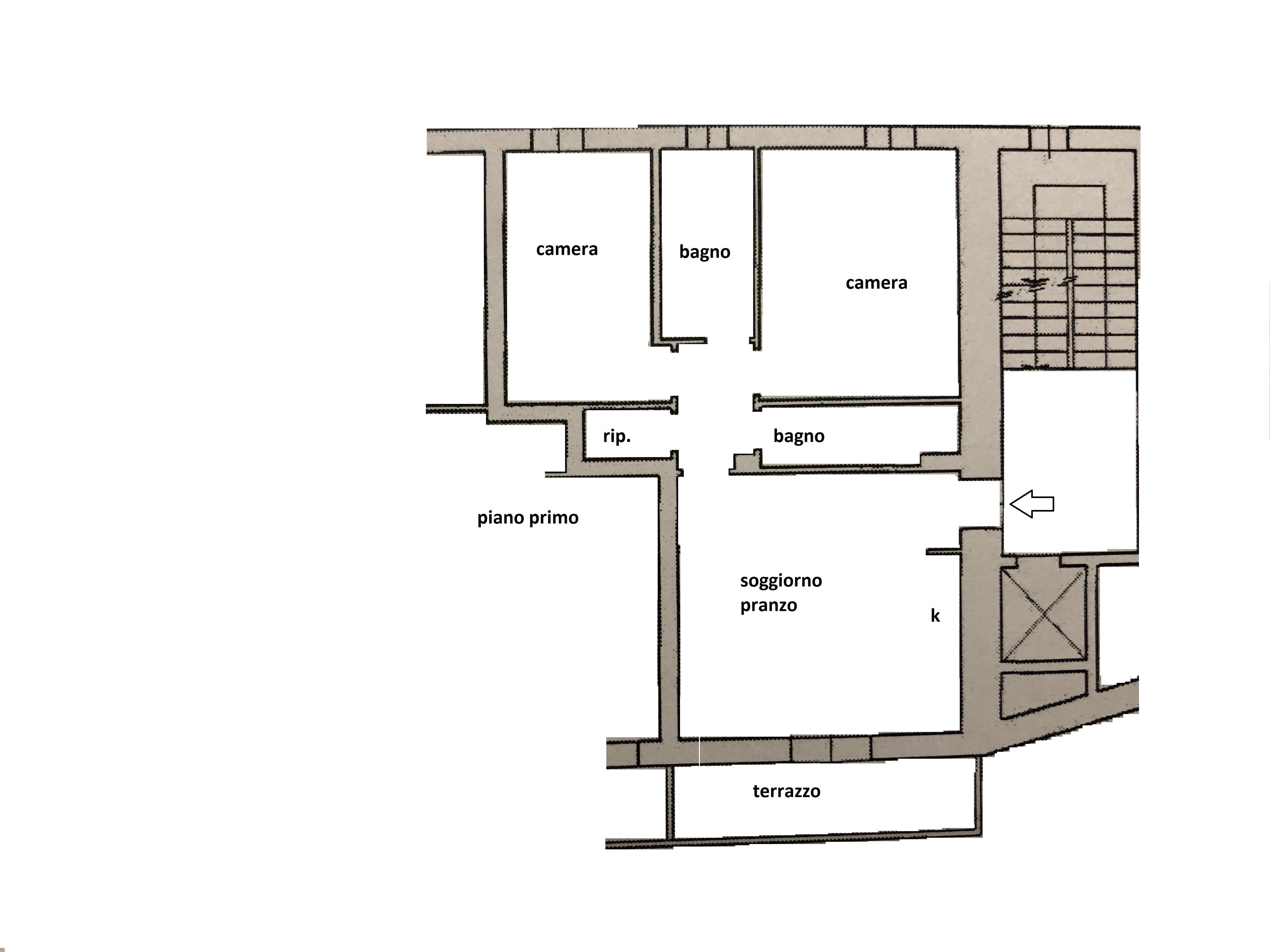 Planimetria 1/1 per rif. R/3464