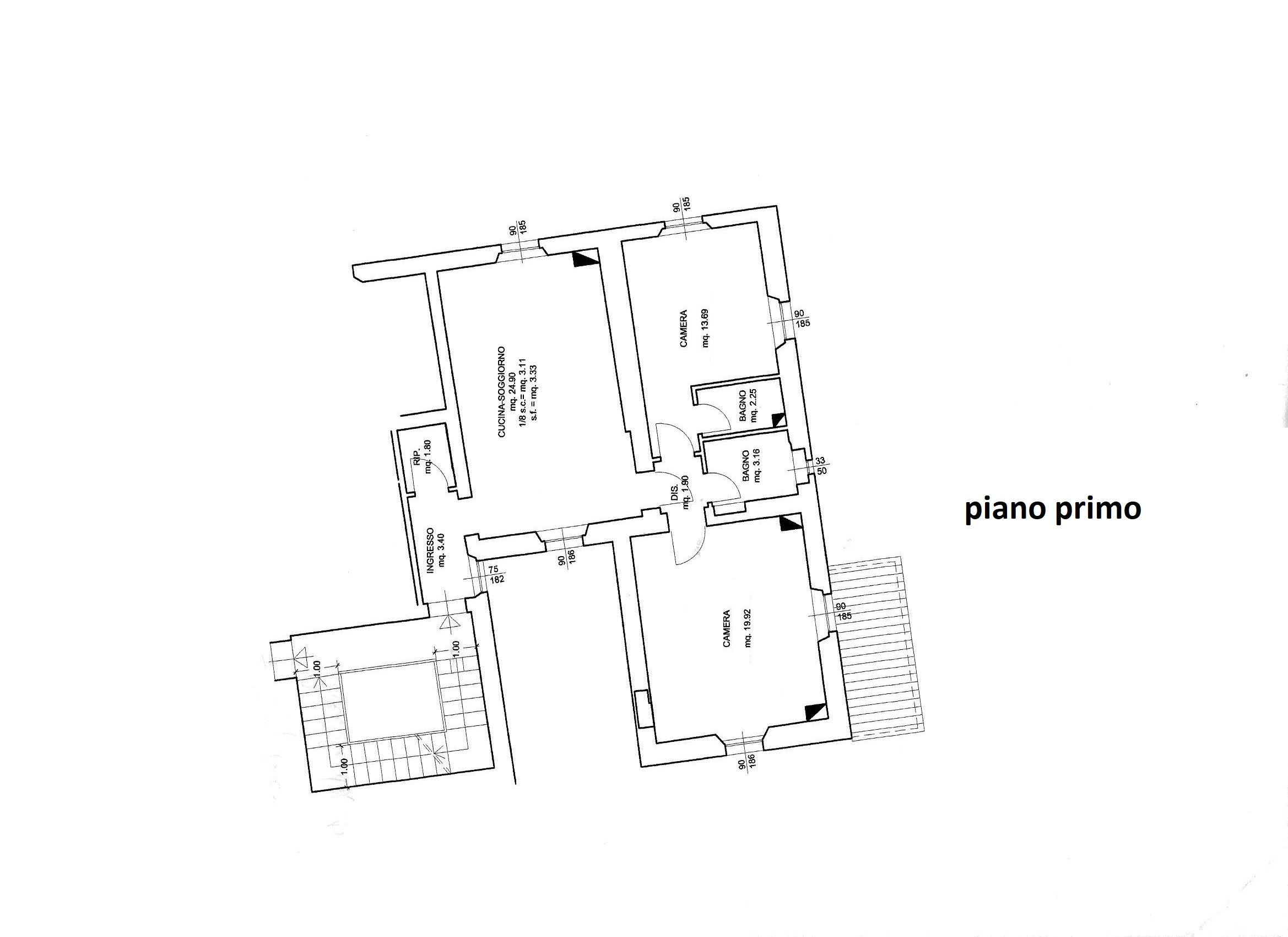 Planimetria 1/1 per rif. R/3467