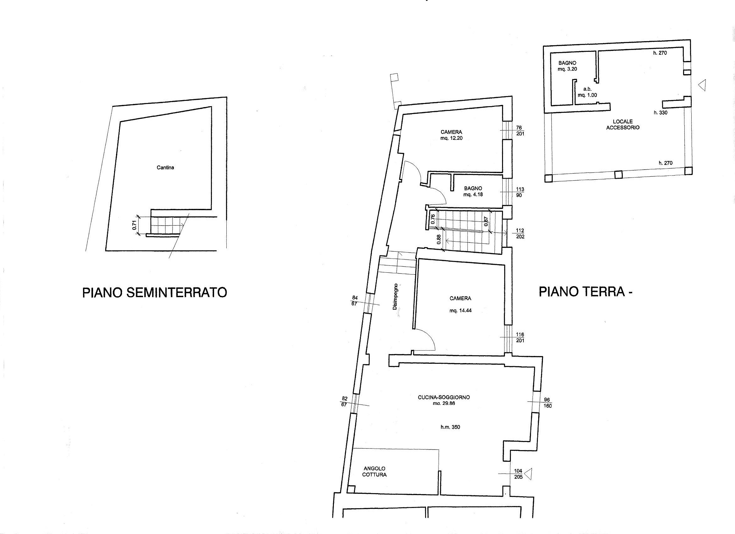 Planimetria 1/1 per rif. R/3468