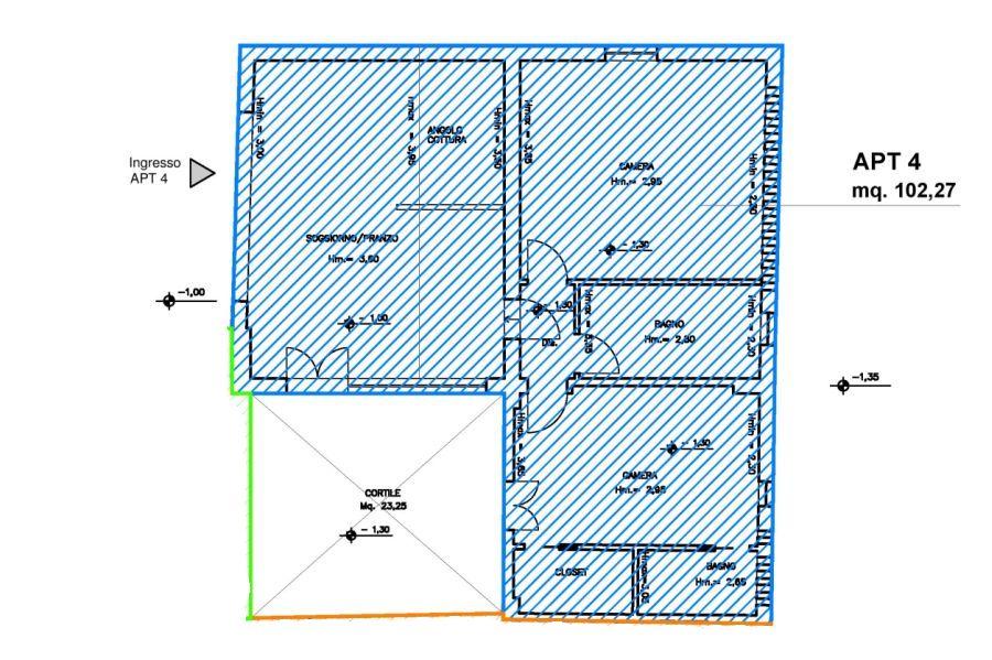 Appartamento in vendita, rif. R/135 (Planimetria 1/1)