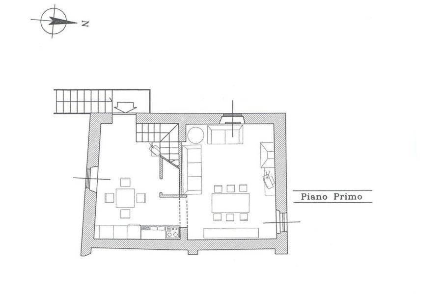 Rustico in vendita, rif. R/139 (Planimetria 1/2)