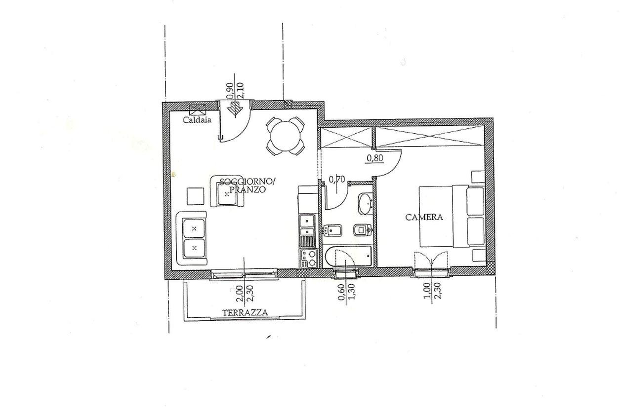 Appartamento in vendita, rif. R/143 (Planimetria 1/1)