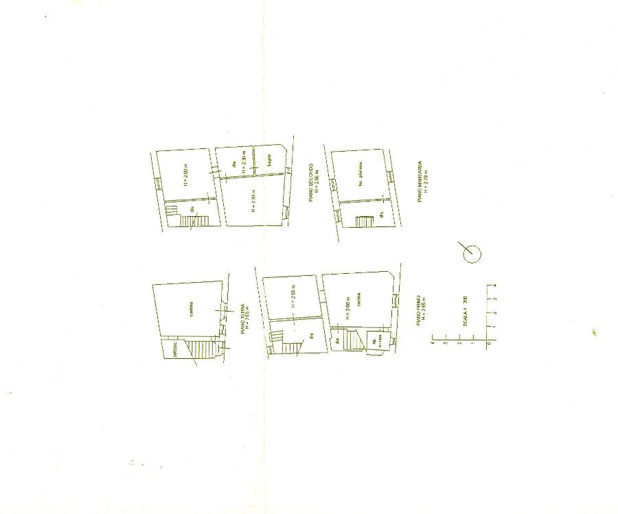 Villetta a schiera in vendita, rif. R/123 (Planimetria 1/1)
