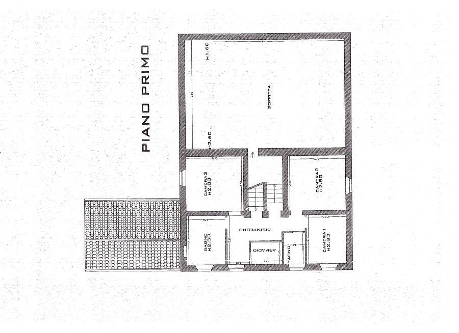 Rustico in vendita, rif. R/115 (Planimetria 1/3)