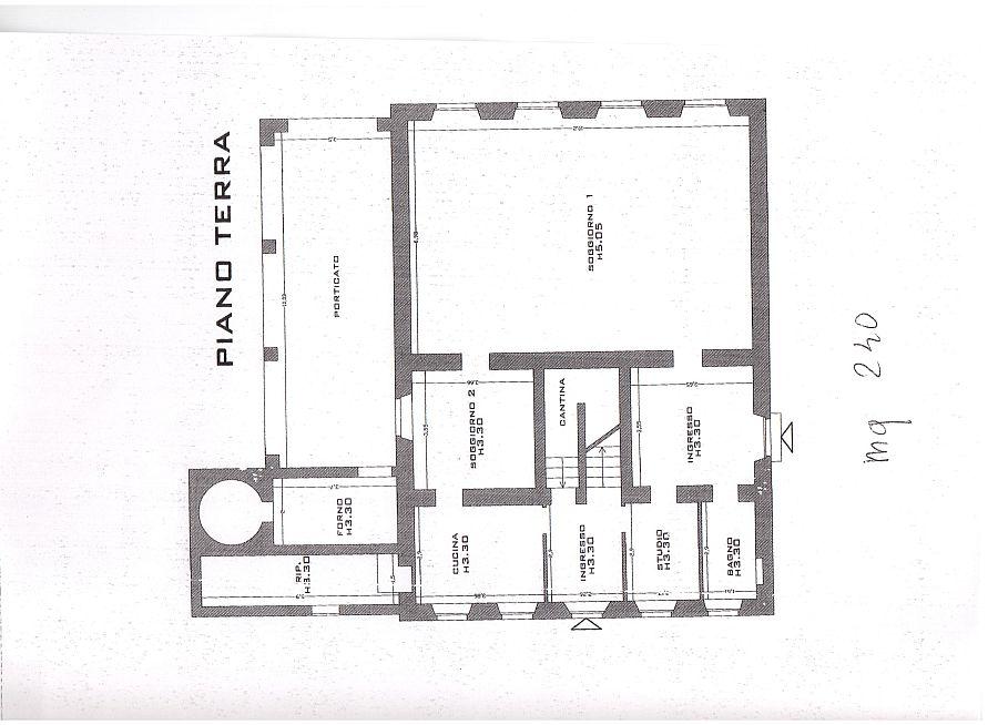 Rustico in vendita, rif. R/115 (Planimetria 2/3)