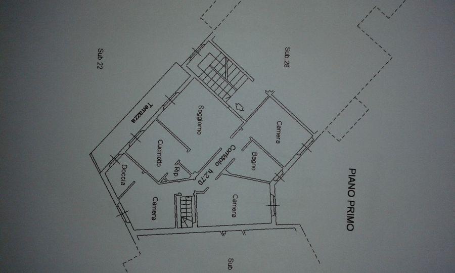 Appartamento in vendita, rif. R/307 (Planimetria 1/2)