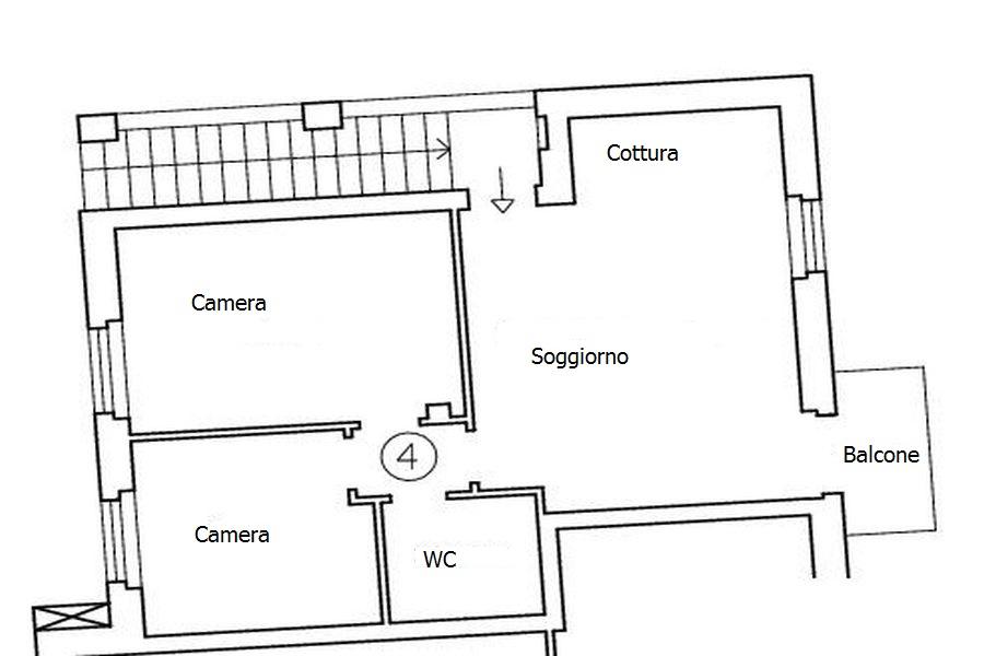 Appartamento in vendita, rif. R/333 (Planimetria 1/1)