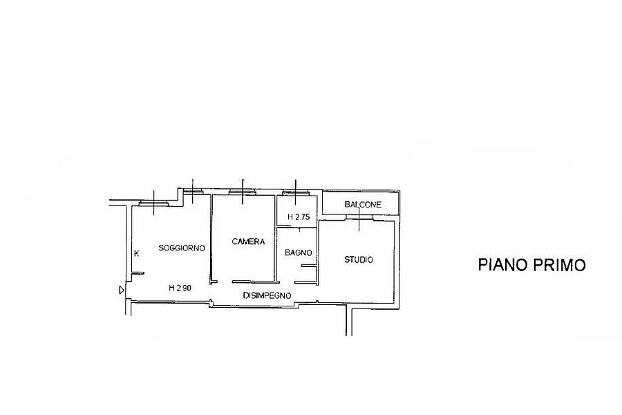Appartamento in vendita, rif. R/347 (Planimetria 1/1)