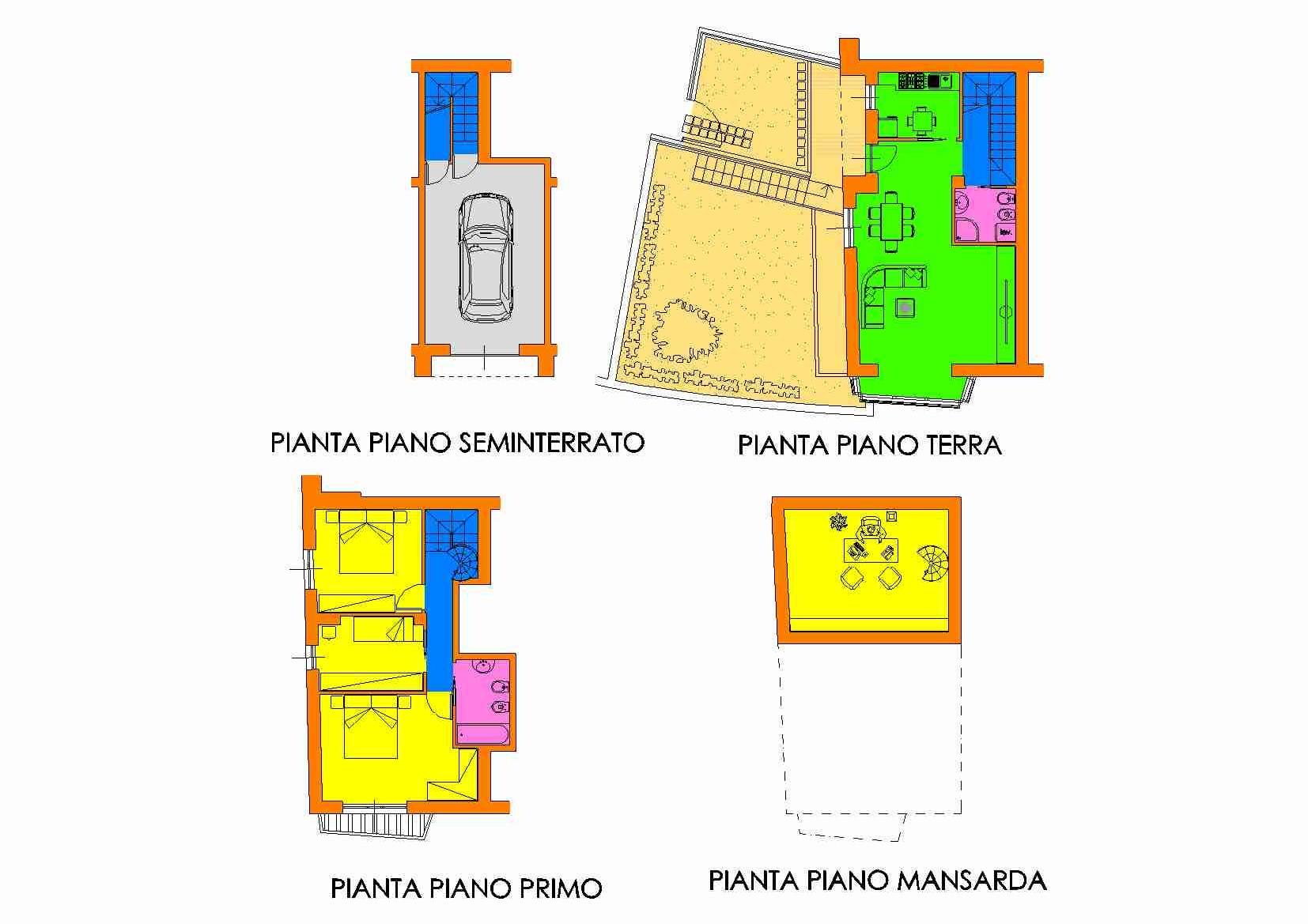 Villetta a schiera in vendita, rif. R/129 (Planimetria 2/3)