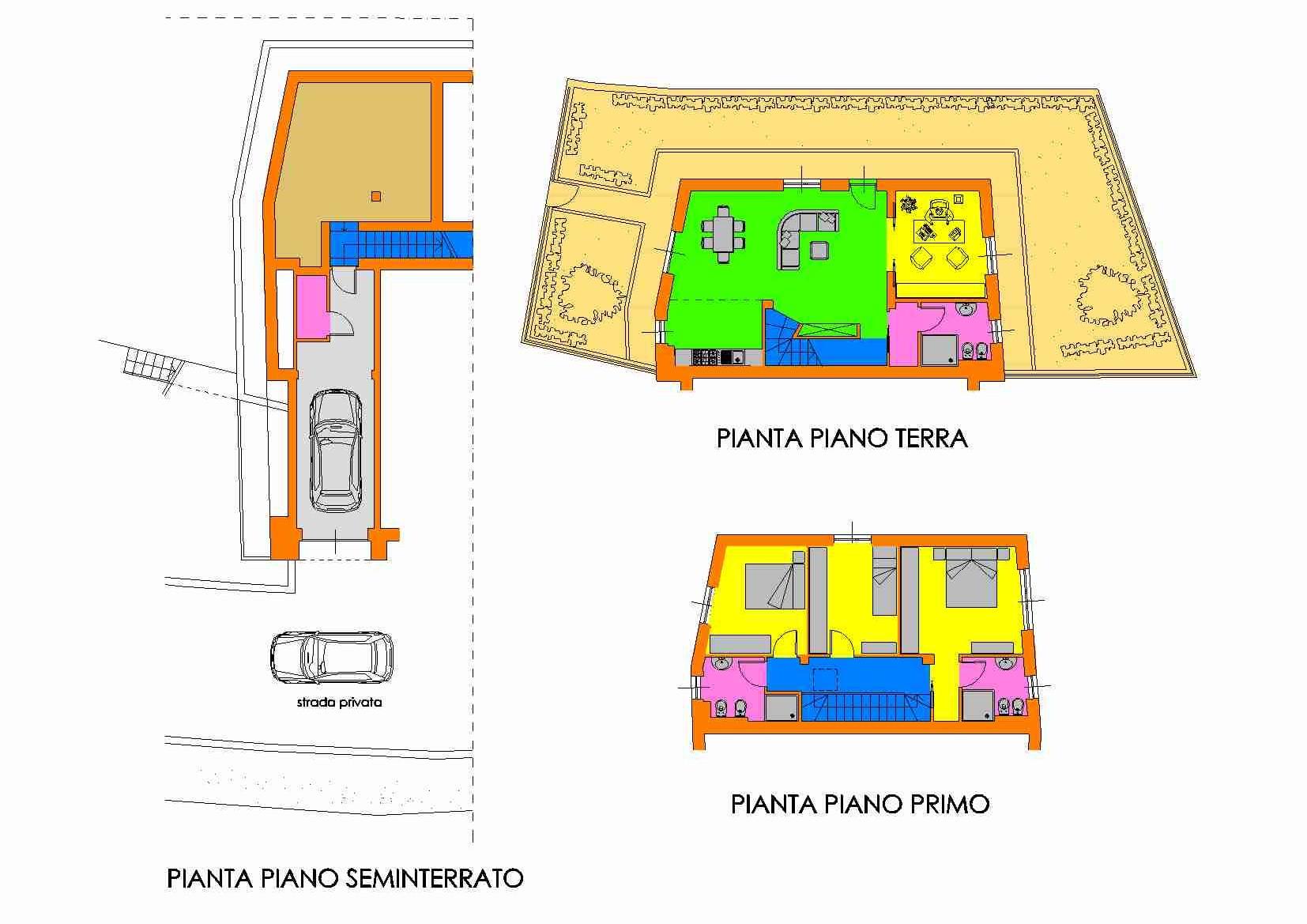 Villetta a schiera in vendita, rif. R/129 (Planimetria 3/3)