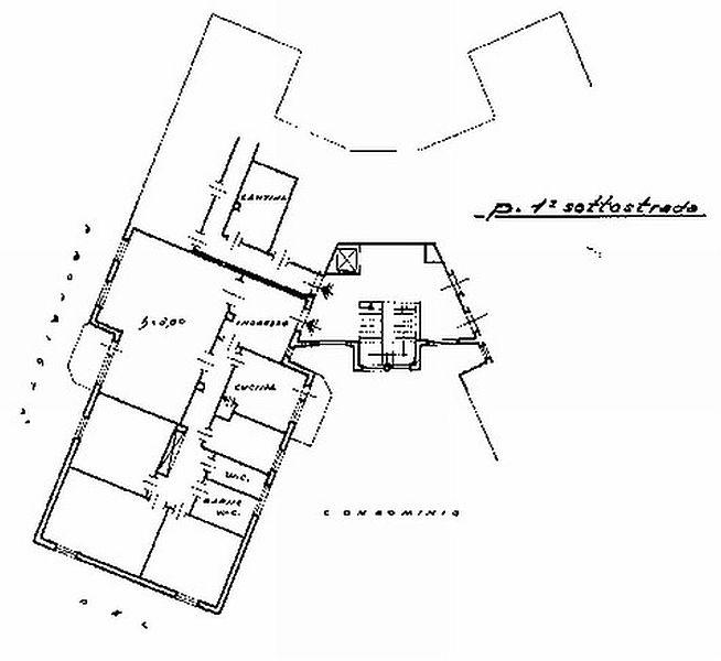 Appartamento in vendita, rif. R/379 (Planimetria 1/2)