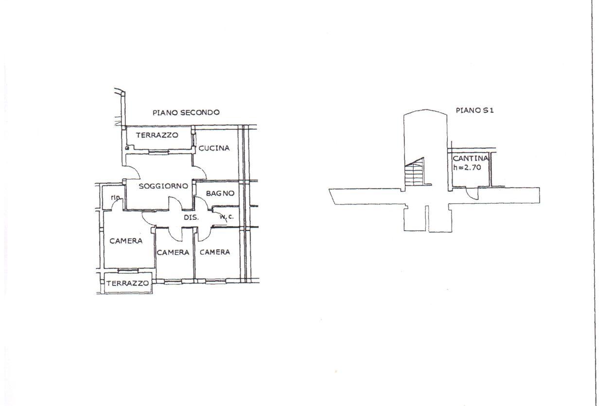 Appartamento in vendita, rif. R/405 (Planimetria 1/1)