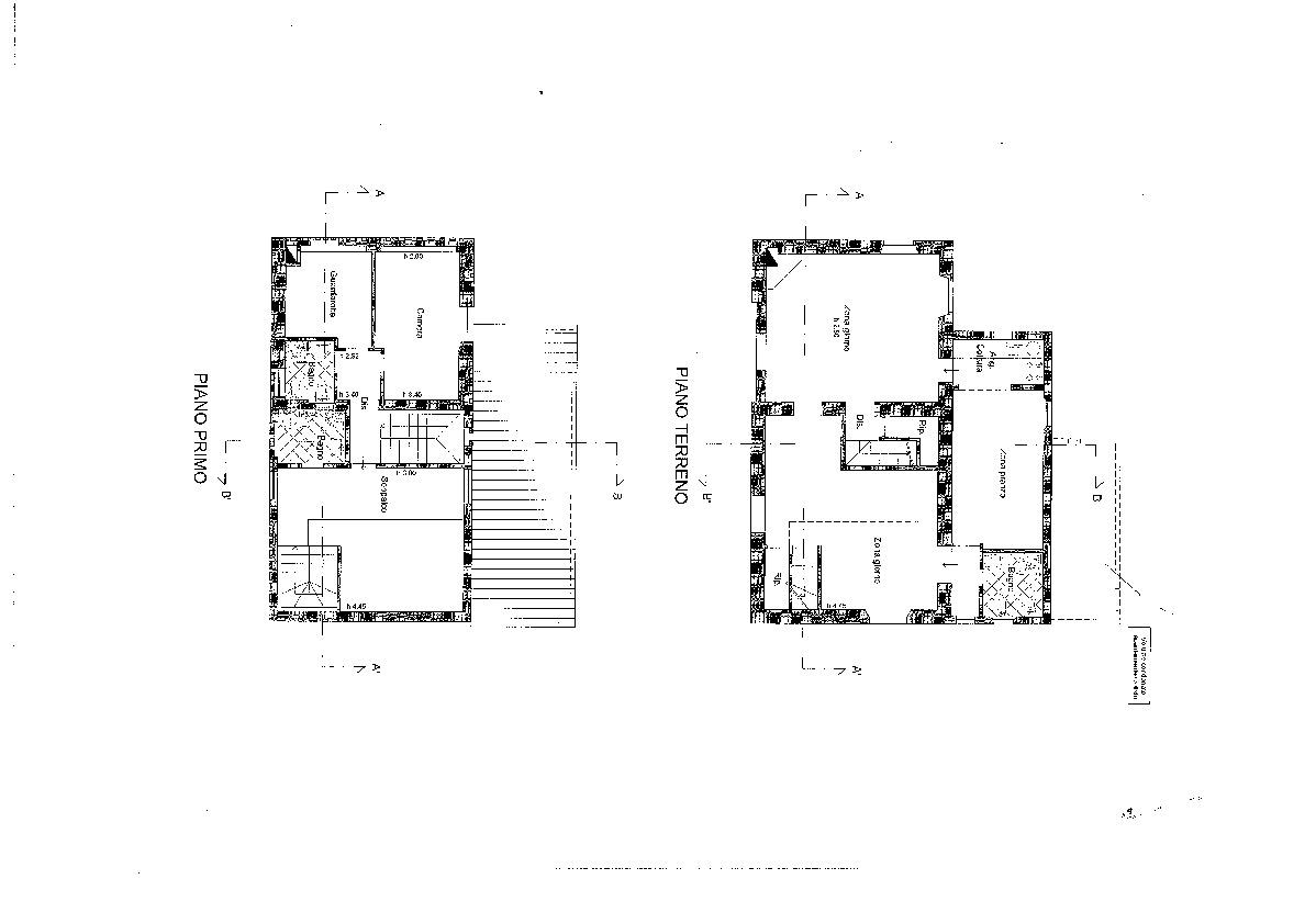 Casa singola in vendita, rif. R/444 (Planimetria 1/2)