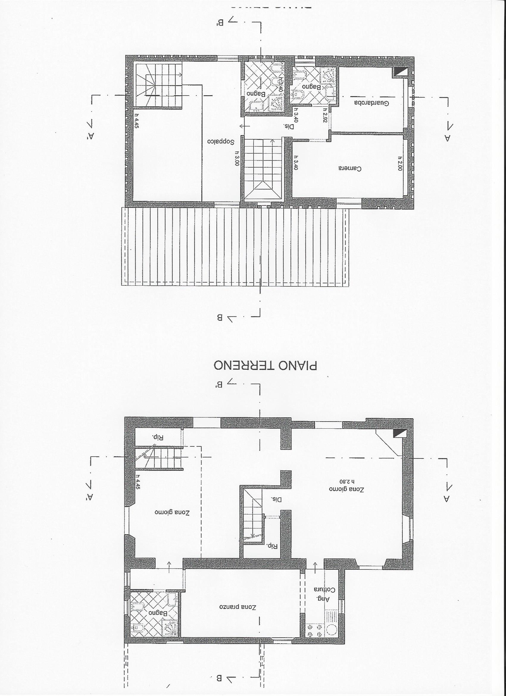 Casa singola in vendita, rif. R/444 (Planimetria 2/2)