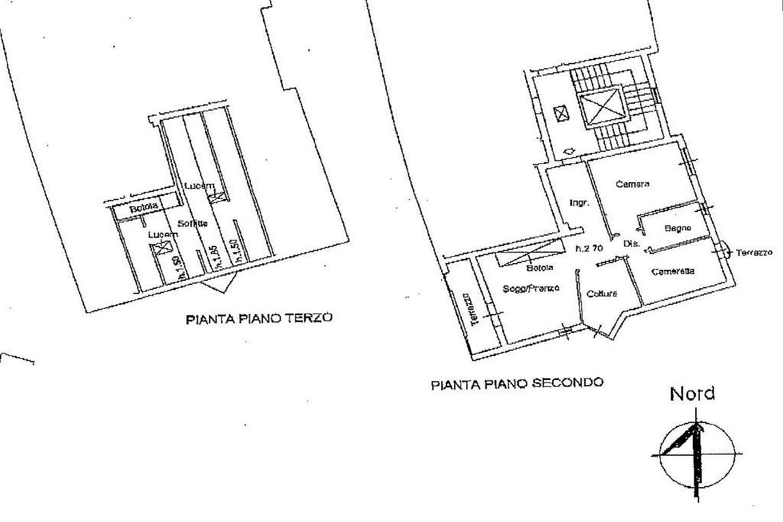 Appartamento in vendita, rif. R/447 (Planimetria 1/2)