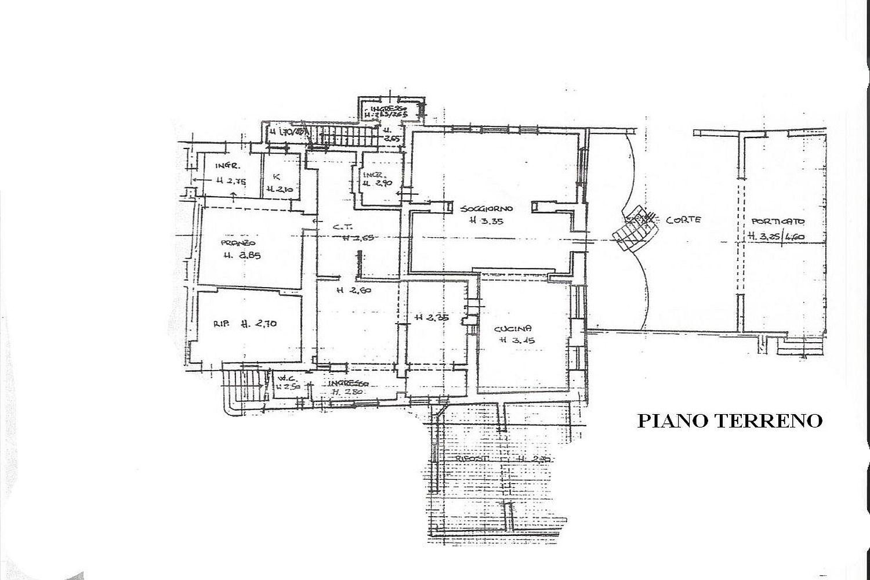Rustico in vendita, rif. R/458 (Planimetria 1/4)