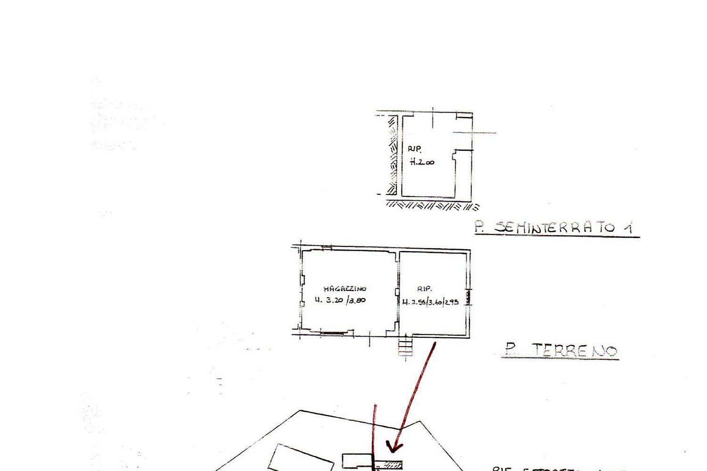 Rustico in vendita, rif. R/458 (Planimetria 3/4)