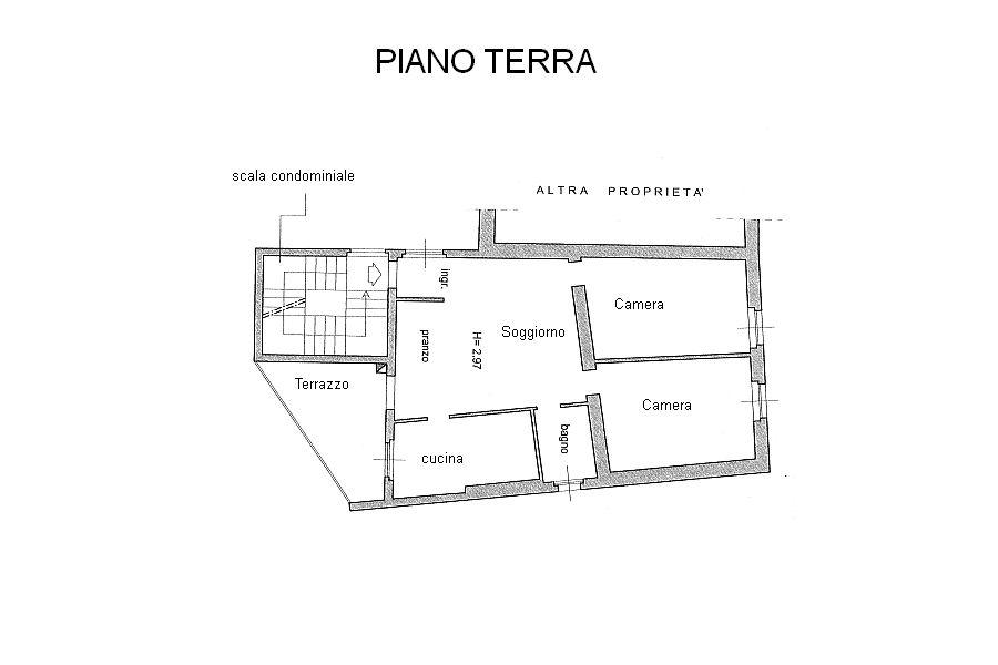 Appartamento in vendita, rif. R/361 (Planimetria 1/1)