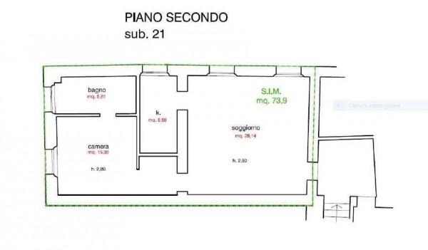 Appartamento in vendita, rif. R/463 (Planimetria 1/1)