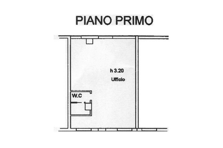 Ufficio in affitto commerciale, rif. C/37 (Planimetria 1/1)