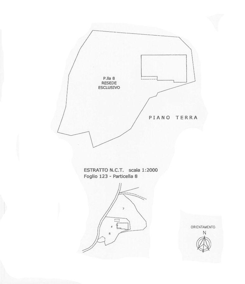 Colonica in vendita, rif. C/47 (Planimetria 2/2)