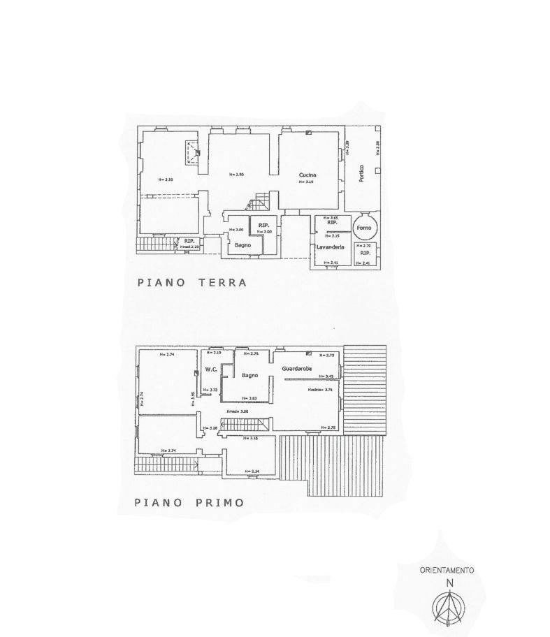 Colonica in vendita, rif. C/47 (Planimetria 1/2)