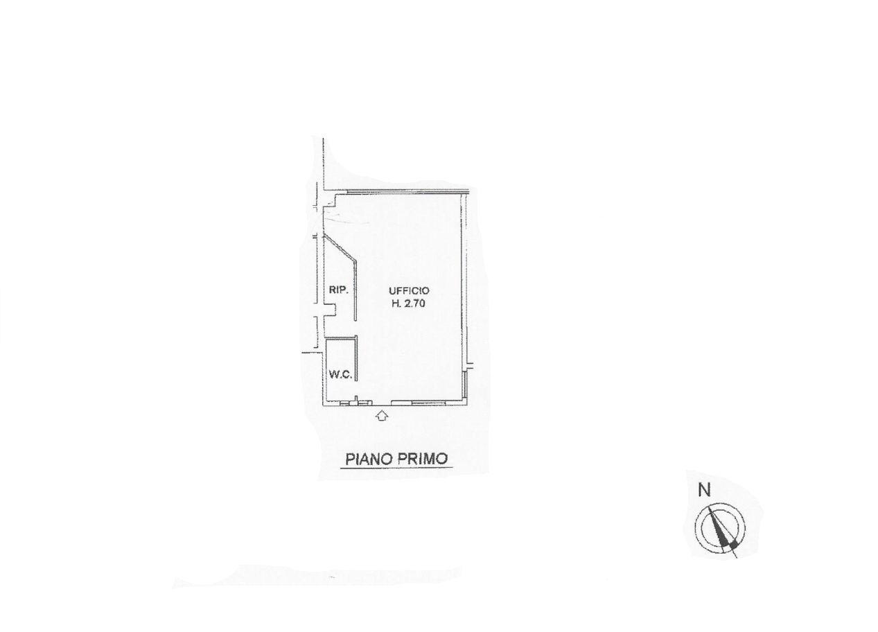 Ufficio in affitto commerciale, rif. C/51 (Planimetria 1/1)