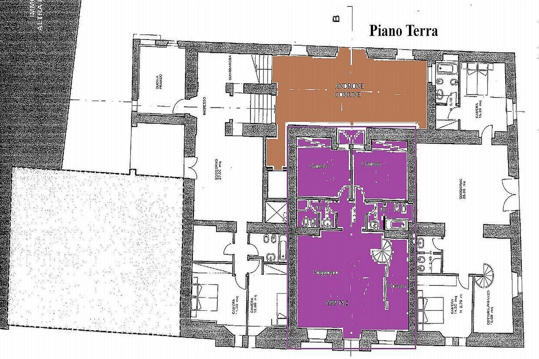 Appartamento in vendita, rif. R/423 (Planimetria 1/3)
