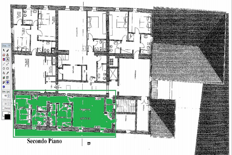 Appartamento in vendita, rif. R/426 (Planimetria 1/2)