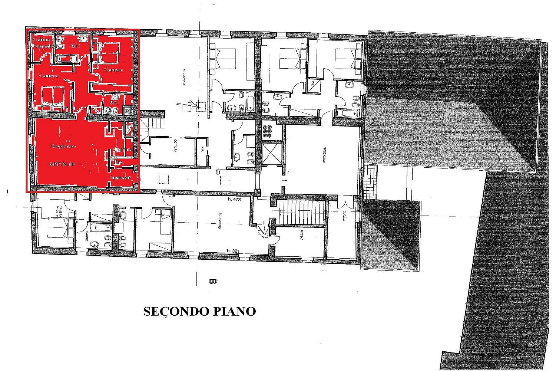 Appartamento in vendita, rif. R/425 (Planimetria 1/2)