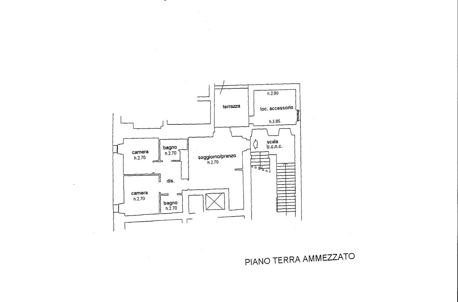 Appartamento in vendita, rif. R/430 (Planimetria 1/2)