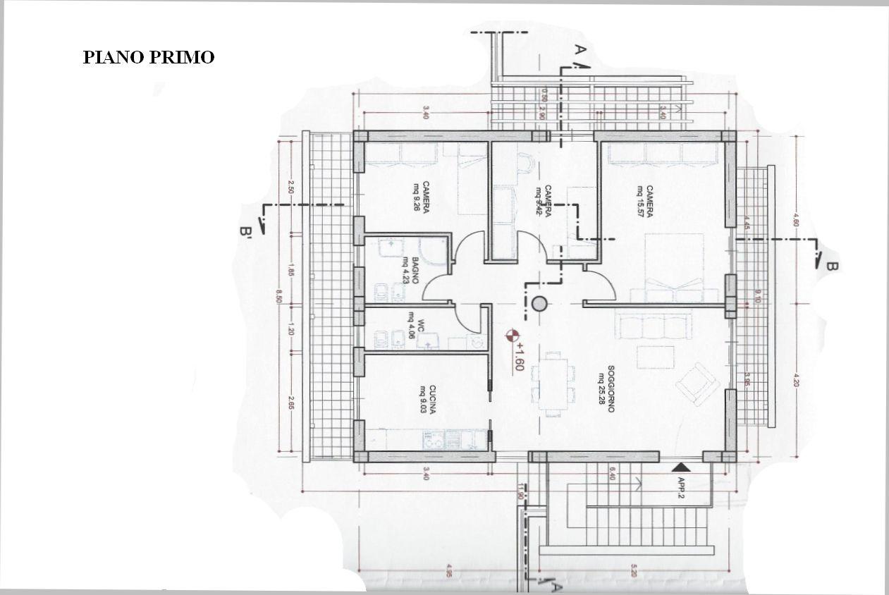 Villetta a schiera in vendita, rif. R/484 (Planimetria 1/1)