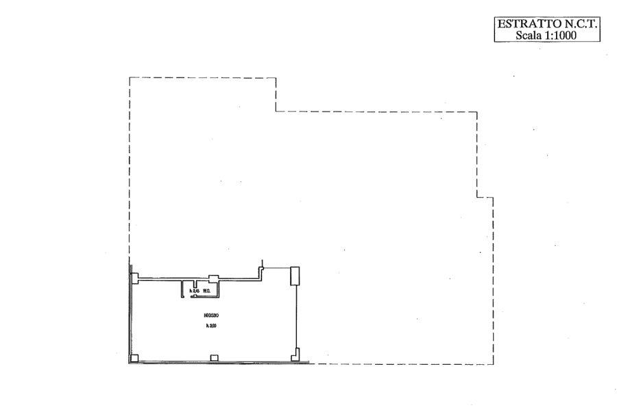 Capannone commerciale in affitto commerciale, rif. C/3 (Planimetria 1/1)