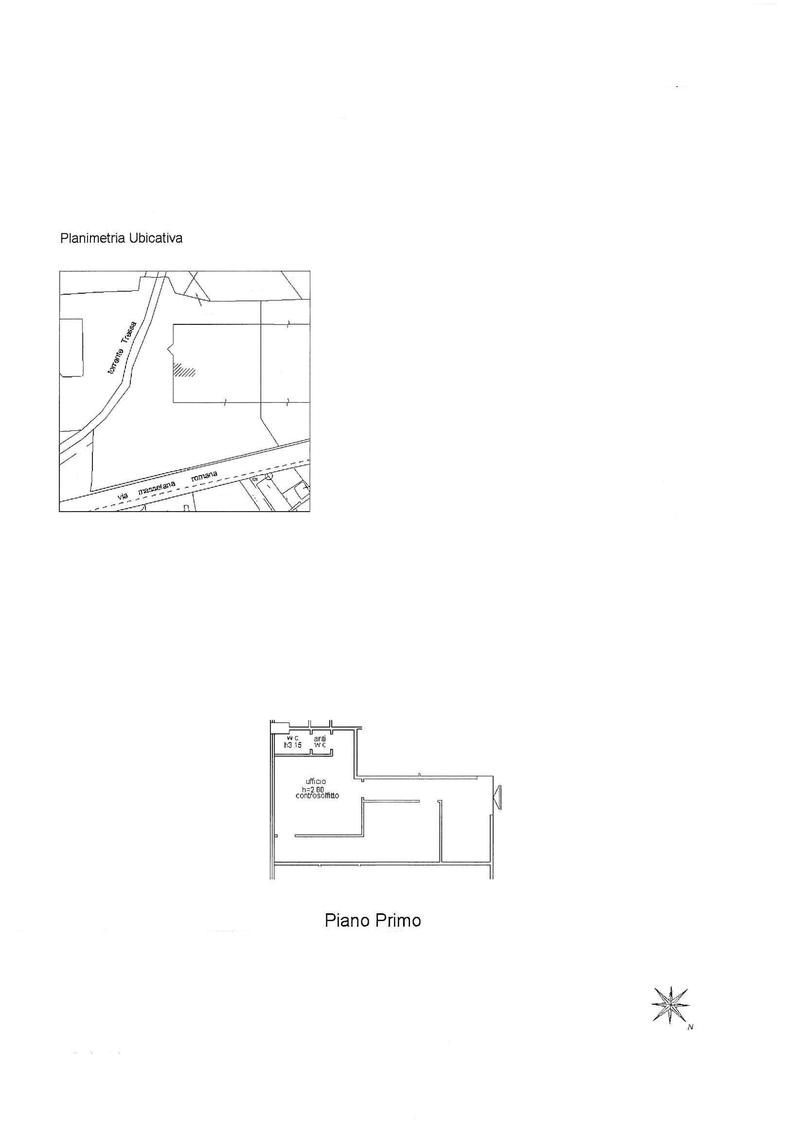 Ufficio in affitto commerciale, rif. C52 (Planimetria 1/1)