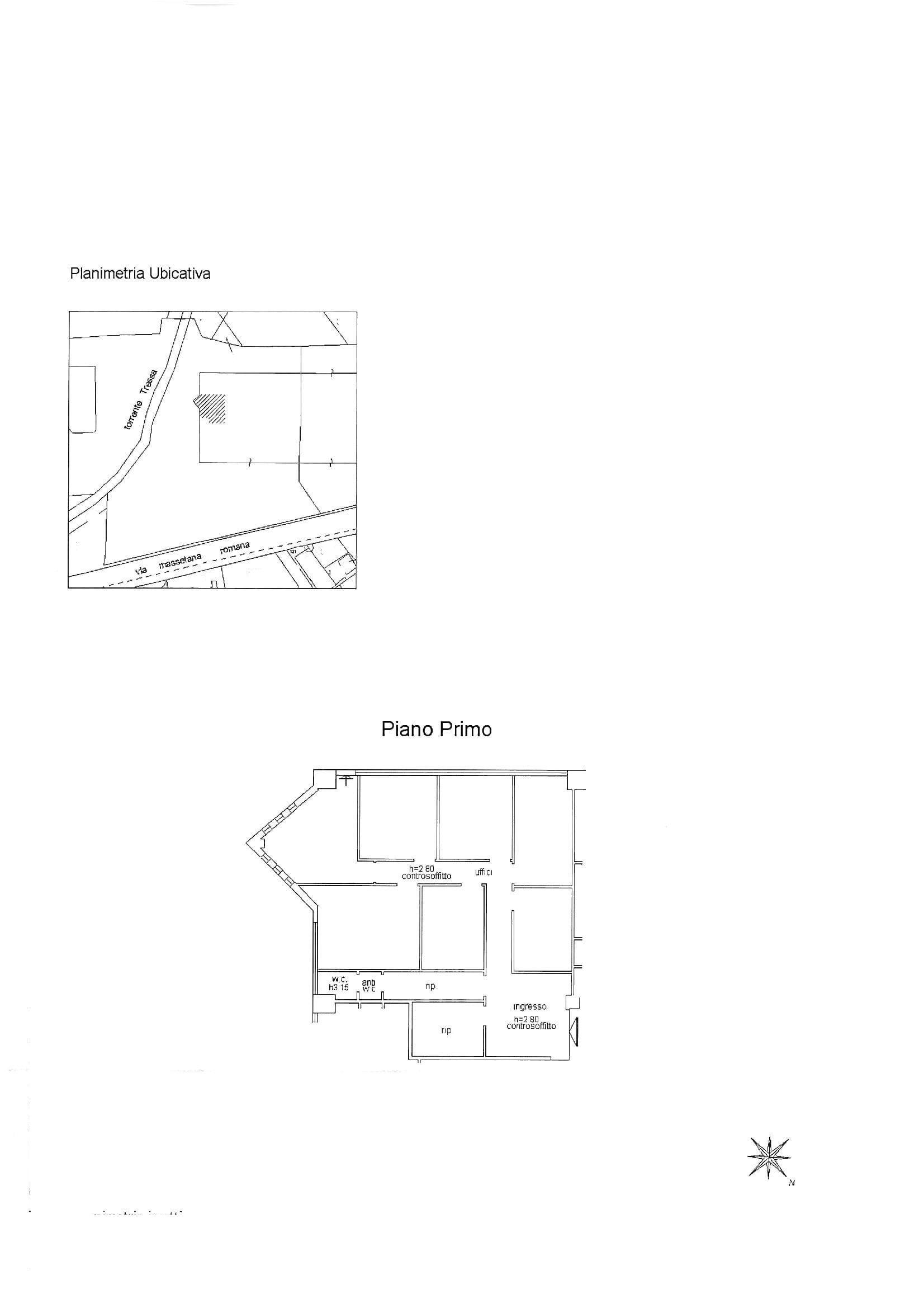 Ufficio in affitto commerciale, rif. C53 (Planimetria 1/1)